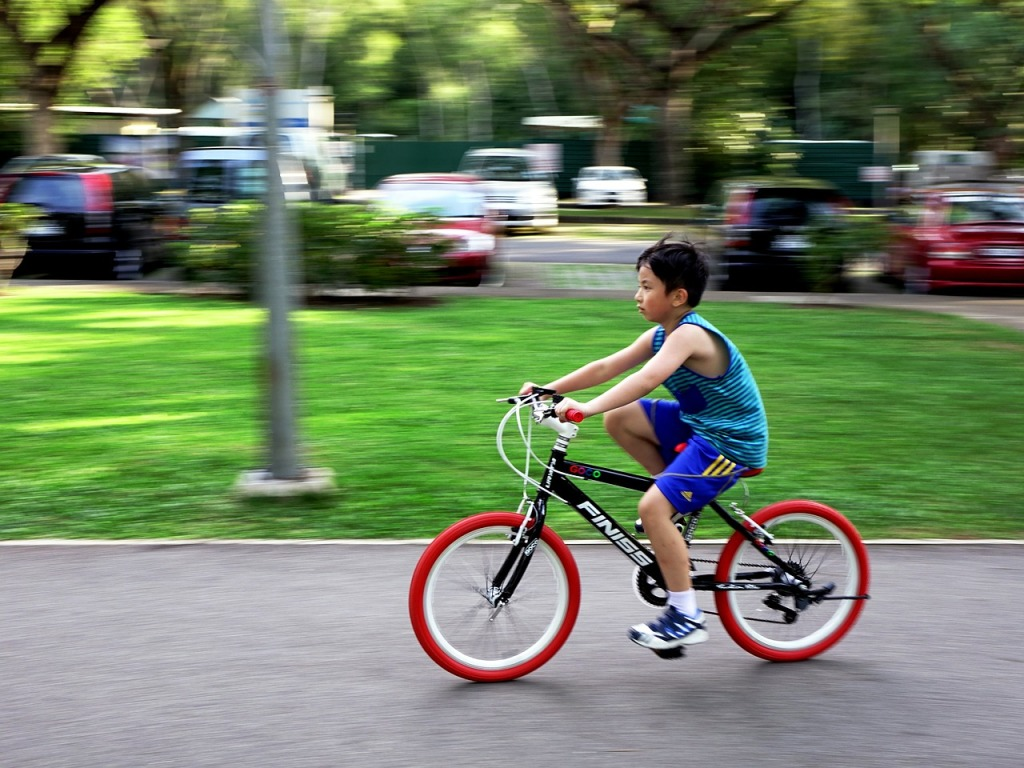 ... 自転車練習に! | comolib Magazine